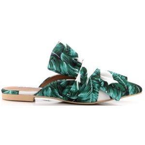 A Mermaid's Epiphany Shoes - 🆕Island Vibes Tropical Slip On Bow Mule Flats
